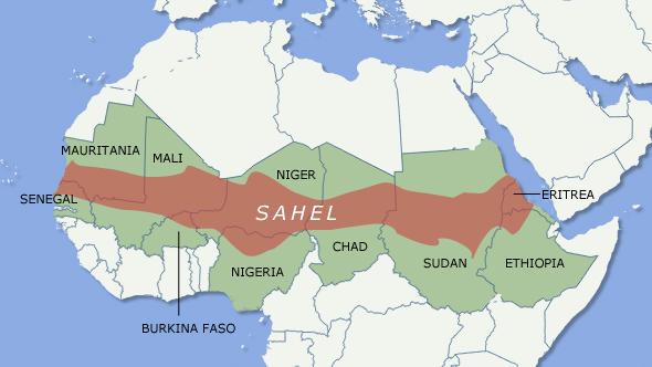 Znalezione obrazy dla zapytania Burkina Faso Czad Mali, Mauretania Niger sahel