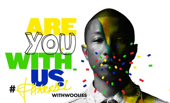 "Pharrell Williams i Woolworths SA w kampanii ""Are You With Us?"""